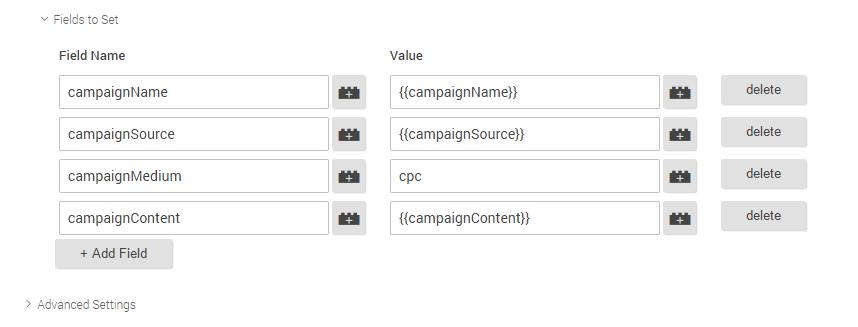 Шаг 6 по установке расширенного кода Google Universal Analytics для расшифровки _openstat через Google Tag Manager (GTM)